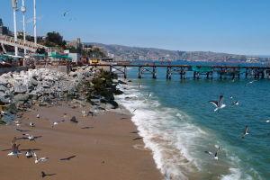Pláž pred Caletou