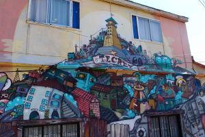 Graffiti v Polancu - Veža s výťahom