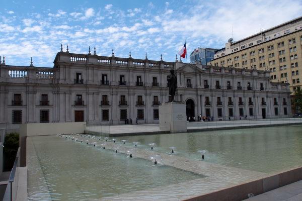 Prezidentský palác La Moneda v Santiagu