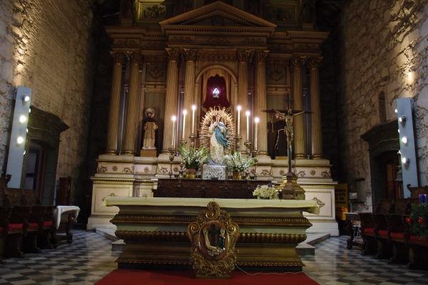 Hlavný oltár Chrámu sv. Františka v Santiagu