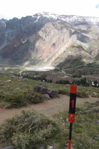 Dedinka Baños Morales a prvý kilometrovník