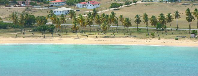 Pláže Antiguy - Morris Bay pri hlavnej ceste okolo ostrova (zdroj: Antiguanice.com)