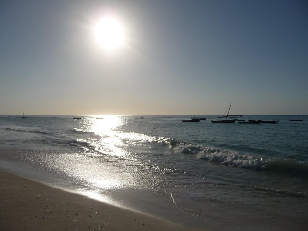 Západ Slnka nad Indickým oceánom