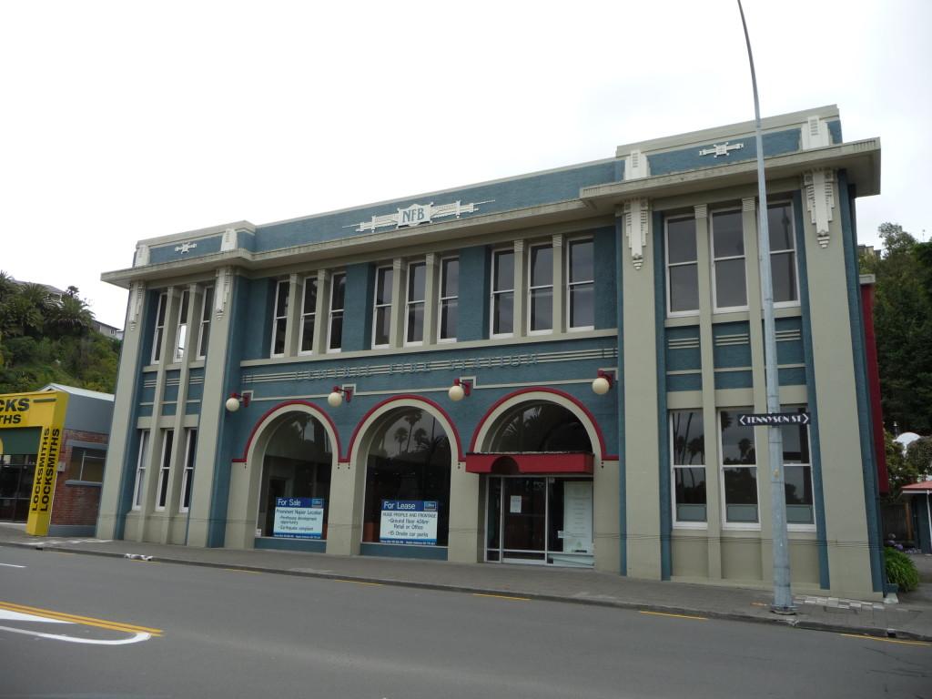 Art Deco budova v meste Napier