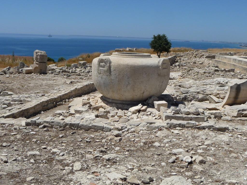 Vodná nádrž na akropoli v Amathuse