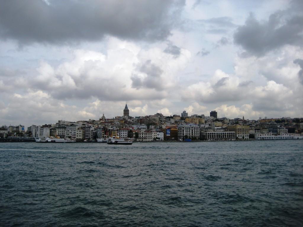 Pohľad na štvrť Galata v Istanbule