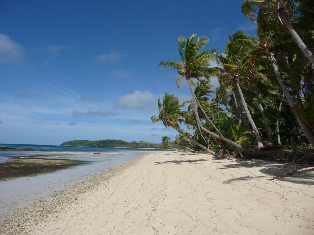 Pláž Coconut Beach na Fidži