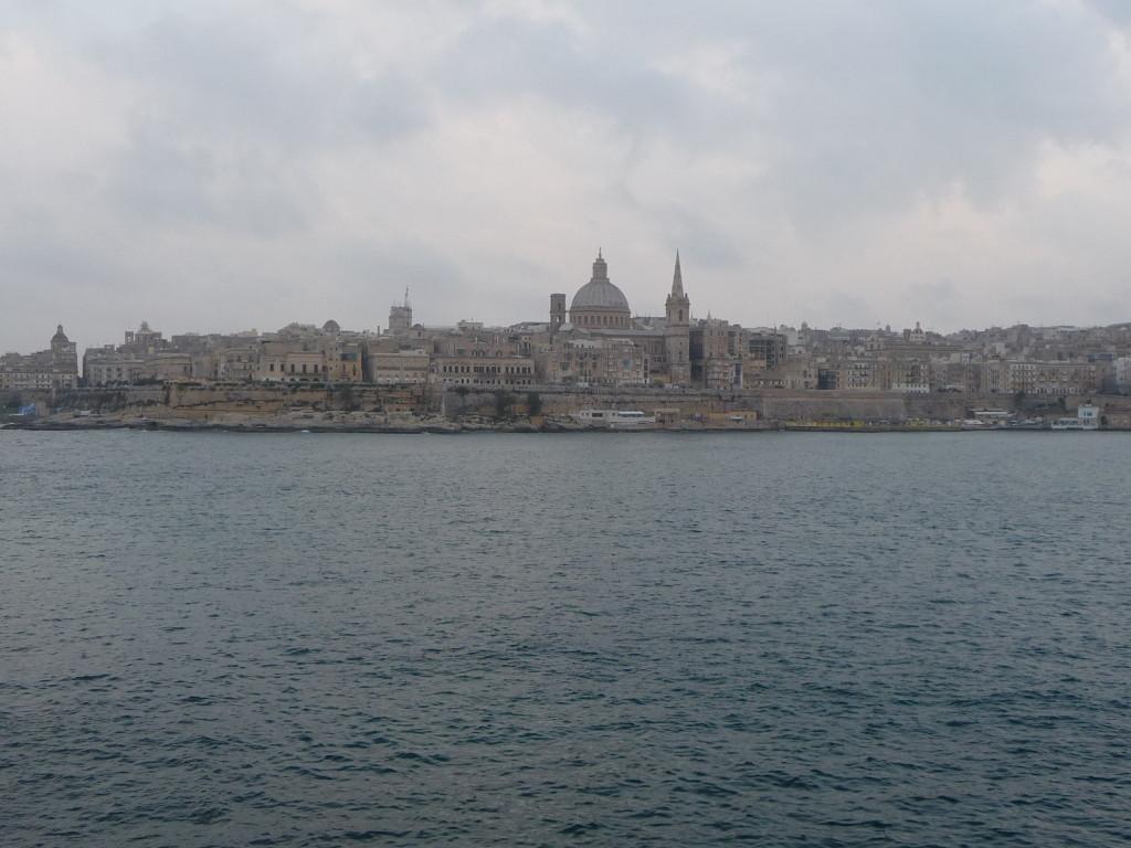 La Valletta pri pohľade zo Sliemy