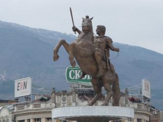 Socha Alexandra Macedónskeho v Skopje