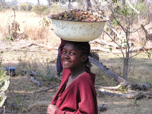 Dievča v Botswane (Zdroj: Wikipedia)