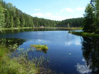 Jazero v Národnom parku Nuuksio