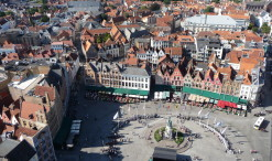 Výhľad z radničnej veže v Bruggách