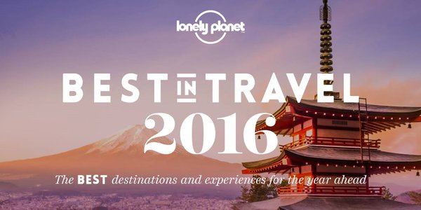 Lonely Planet - Best in Travel 2016