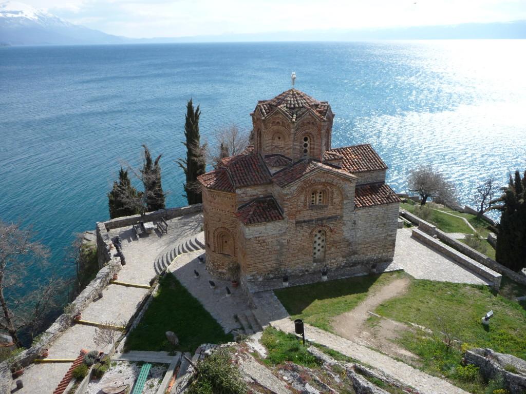 Chrám sv. Jána na Kaneu a Ohridské jazero