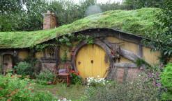 Hobbití domček v Hobbitone (Matamata)