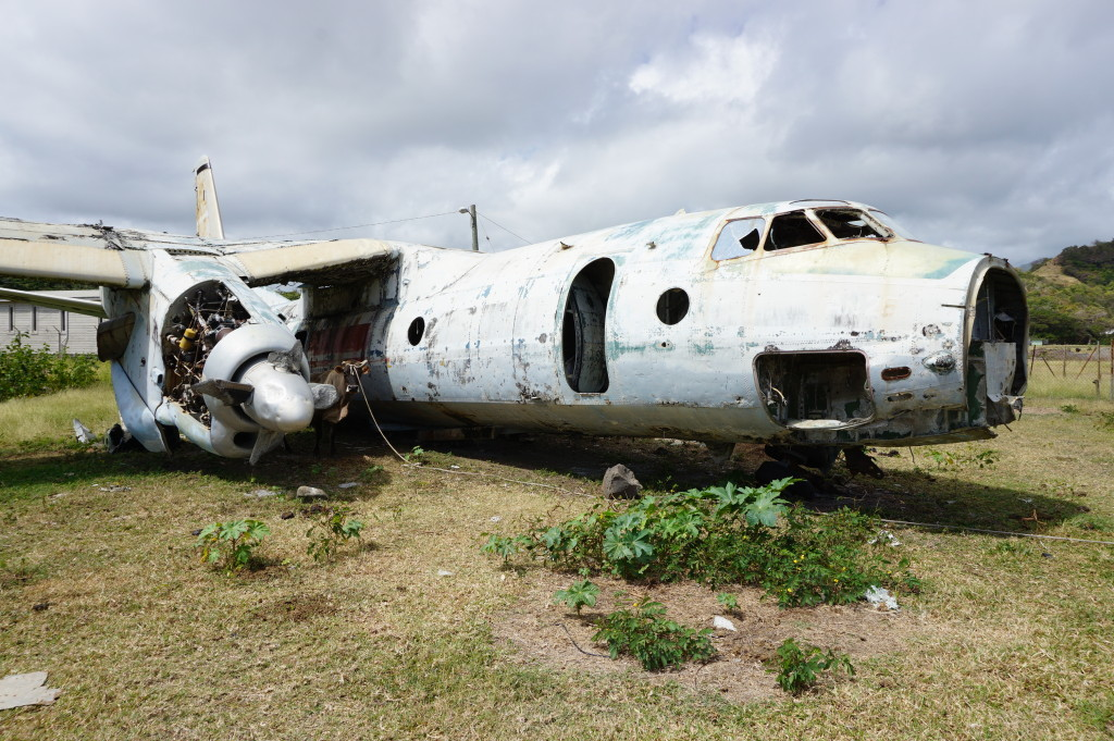 Vrak lietadla na Grenade