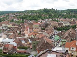 Pohľad na staré centrum Sighișoary