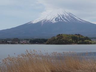 Sopka Fudži od jazera Kavaguči