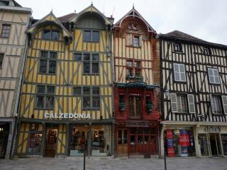 Stredoveké polodrevené budovy v Troyes