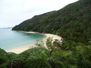 Pláž v národnom parku Abela Tasmana
