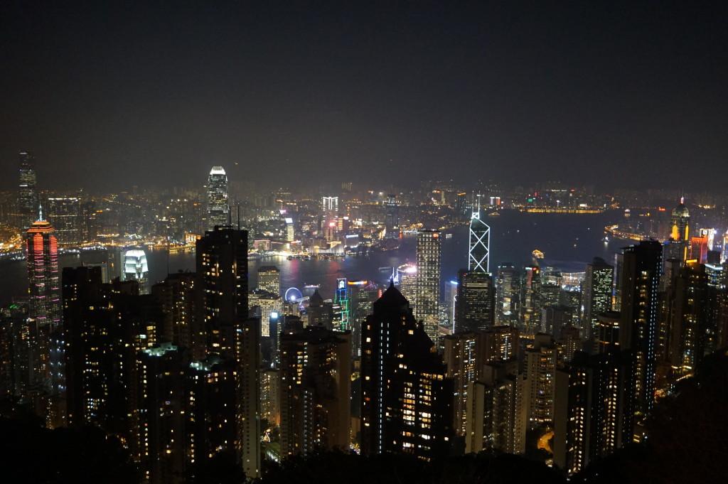 Hong Kong z vrcholu Victoria Peak