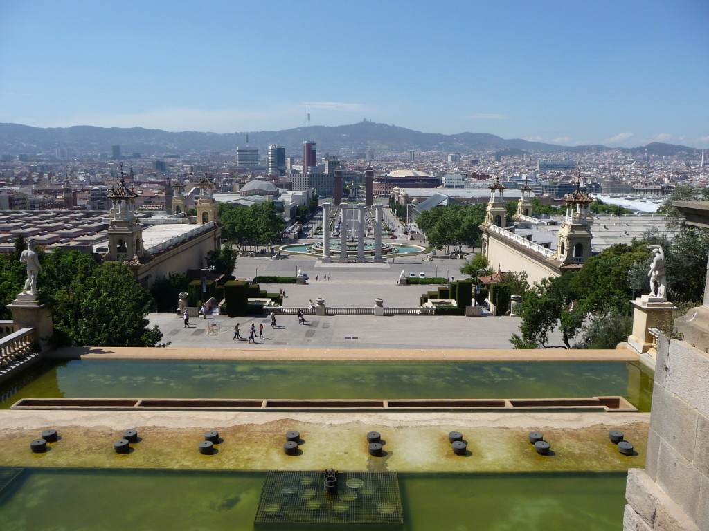 Námestie Plaça de les Cascades v Barcelone