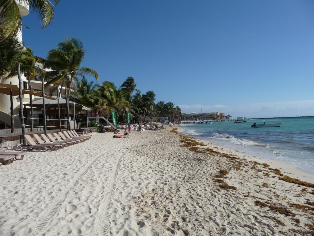 Pláž v Playa del Carmen