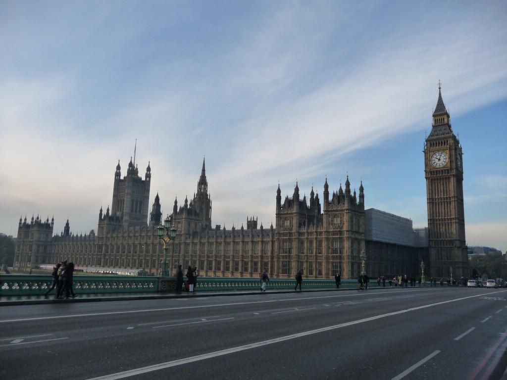 Westminsterské opátstvo a Big Ben v Londýne