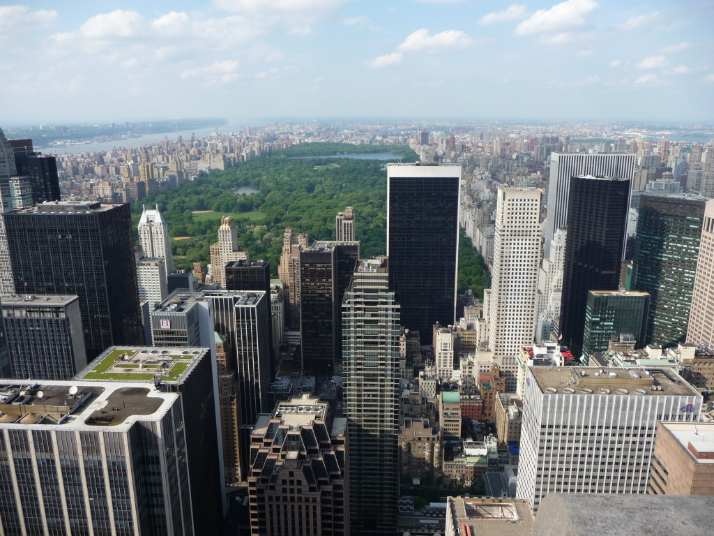 Pohľad na Central Park v New Yorku z Rockefellerovej veže
