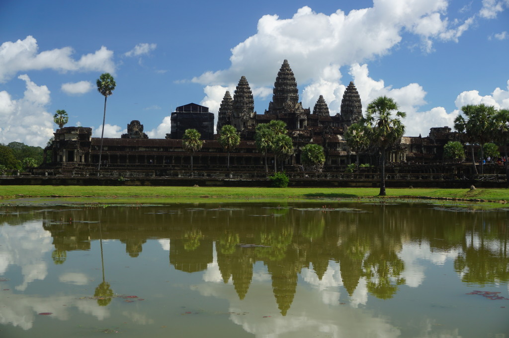 Chrám Angkor Wat v Kambodži
