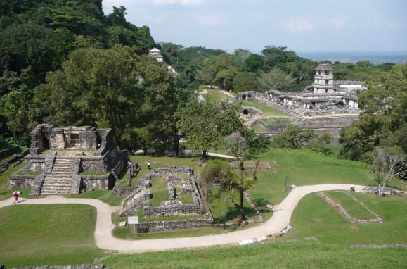 Ruiny mayského mesta Palenque