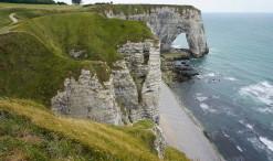 Útesy Étretat v Normandii