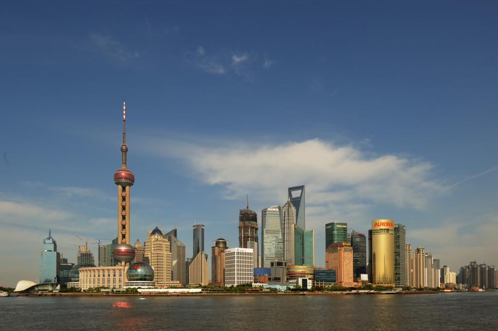 Biznis štvrť Pudong v Šanghaji (Zdroj: Wikipedia.org)