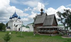 Drevený kostolík sv. Mikuláša a Kremeľ v Suzdali