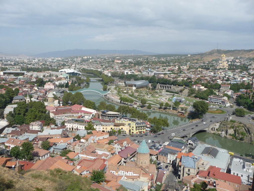 Tbilisi pri pohľade z pevnosti