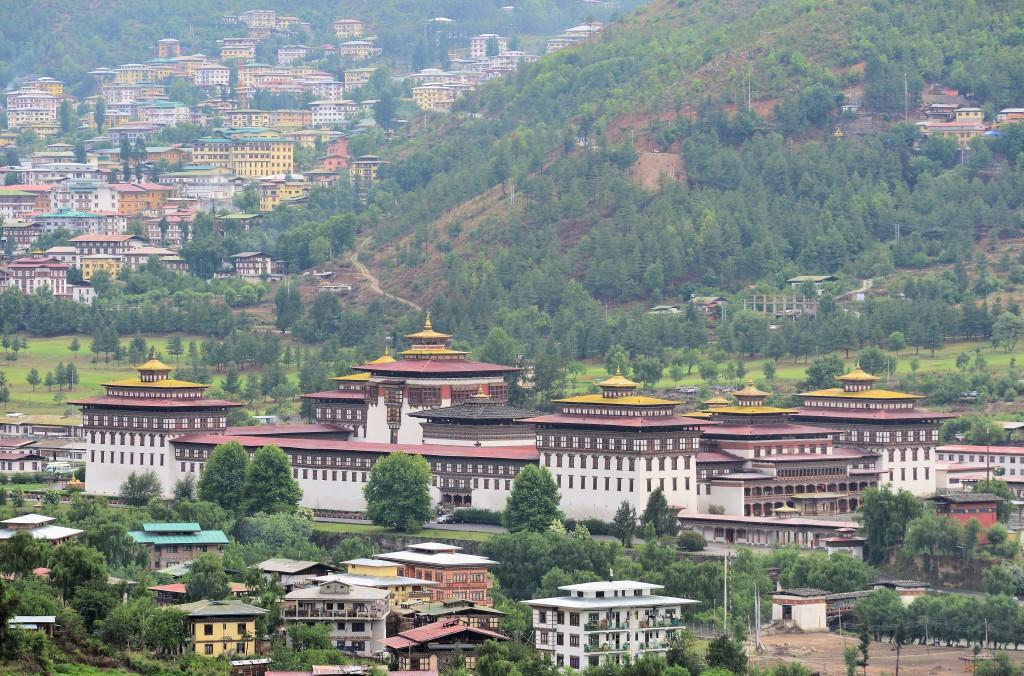 Thimpu, hlavné mesto Bhutánu (Zdroj: Wikipedia)